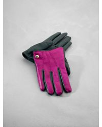 Patrizia Pepe Leather Gloves - Lyst