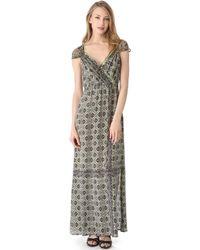Twelfth Street Cynthia Vincent Gathered Maxi Dress - Lyst