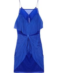 Willow - Knotted Silkorganza and Tulle Dress - Lyst