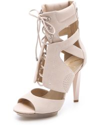B Brian Atwood Laced Sandal Boots - Lyst