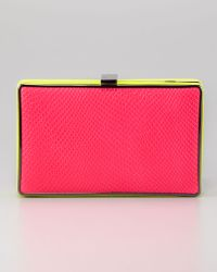 BCBGMAXAZRIA Thea Evening Clutch Pinkyellow