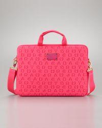 Marc By Marc Jacobs - Dreamy Logo Neoprene Commuter Laptop Bag Pop Pink - Lyst