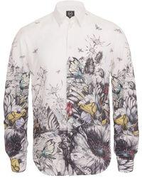 McQ by Alexander McQueen Floral Tattoo Print Shirt - Lyst