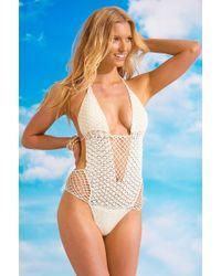 Beauty & The Beach Sway Crochet Monokini - Lyst