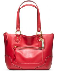 Coach Poppy Leather Small Tote - Lyst