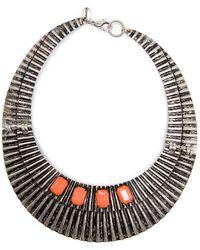 Mango Eagle Long Necklace - Black