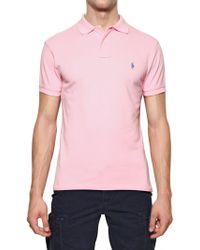 Ralph Lauren Blue Label - Cotton Piquet Logo Slim Fit Polo - Lyst