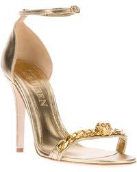 Alexander McQueen Skull Motif Sandal gold - Lyst