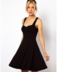 ASOS Collection Asos Sleeveless Skater Dress with Sweetheart Neck - Lyst