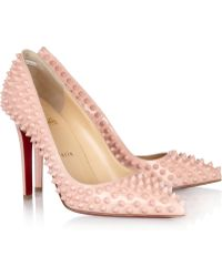 Christian Louboutin Pigalle Spikes 100 Leather Pumps - Lyst