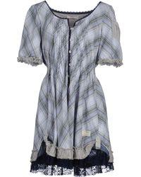 Odd Molly Gray Short Dress - Lyst