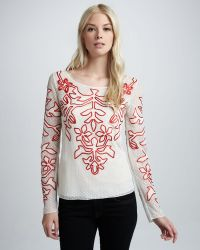 Alice By Temperley   Floria Embroidered Voile Top   Lyst