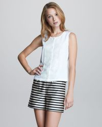 Jil Sander Navy Silk Striped Shorts - Black