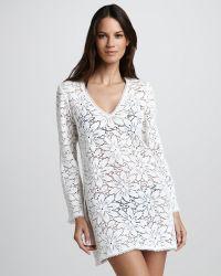 Milly Chrysanthemum Crochet Tunic Coverup - Lyst