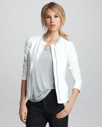 Vince Frontzip Leather Jacket - Lyst