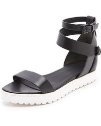 Alexander Wang Jade Flat Sandals - Lyst