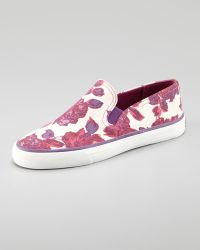 Tory Burch Miles Canvas Slipon Sneaker - Lyst