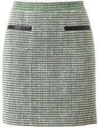 Proenza Schouler Basketweave Tweed Miniskirt green - Lyst