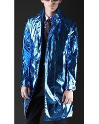 Burberry Prorsum Metallic Silk Caban - Lyst