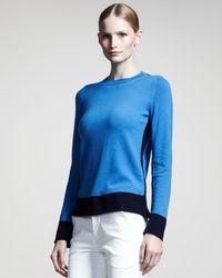 Jil Sander Colorblock Cashmere Sweater - Lyst