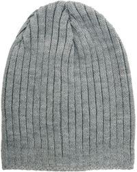 Asos Curve Asos Short Rib Knit Beanie - Lyst