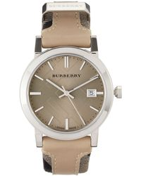 Burberry Checkengraved Watch - Lyst