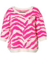 By Malene Birger Mavera Hot Pink Sweater - Lyst