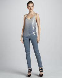 Donna Karan New York Side Zip Ankle Pants Tempest - Lyst