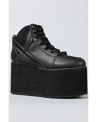 Y.r.u The Qozmo Hi Shoe in Black - Lyst