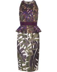 Giambattista Valli Sleeveless Print Dress - Lyst
