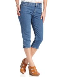 Not Your Daughter's Jeans Skinny Cecilia Cropped Capris Medium Wash - Blue