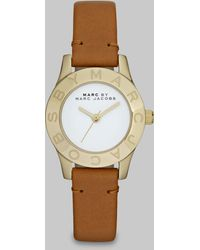 Marc By Marc Jacobs Logo Goldtone Watch - Lyst