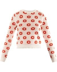 Opening Ceremony Floral Intarsia Reversible Sweater - Lyst