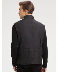 Ralph Lauren Black Label Modern Leather-Trim Vest - Lyst