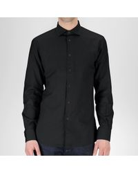 Bottega Veneta Shirt In Nero Cotton - Black