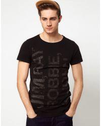 Esprit Tshirt with The Doors Print - Black
