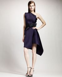 Lanvin One Shoulder Techno Dress - Lyst