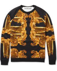 Katie Eary - Fish and Baroqueprint Cottonjersey Sweatshirt - Lyst