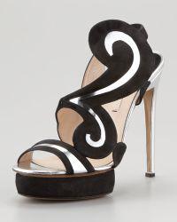 Nicholas Kirkwood - Suede Swirl Metallic Sandal - Lyst