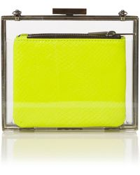Pied a Terre Resin Clutch Bag yellow - Lyst