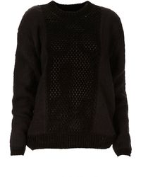 Topshop Knitted Fluffy Crochet Jumper By Boutique black - Lyst