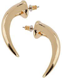 Topshop Clean Metal Spike Earrings - Lyst