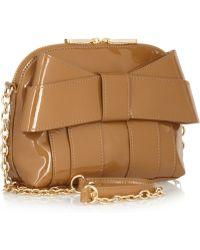 Z Spoke by Zac Posen Shirley Patentleather Shoulder Bag - Brown