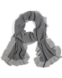 Brooks Brothers Cashmere Ruffle Scarf - Lyst