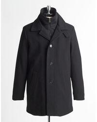 Calvin Klein Black Coleman Overcoat - Lyst