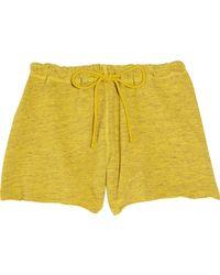 CLU Cotton-Terry Shorts - Yellow