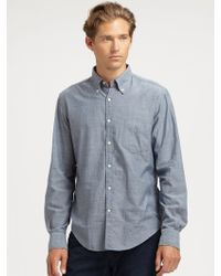 Gant Rugger Solid Selvage Sport Shirt - Lyst