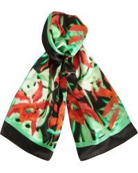 Lanvin Printed Silk Scarf - Red