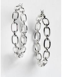 Lauren by Ralph Lauren - Chain Hoop Earrings - Lyst