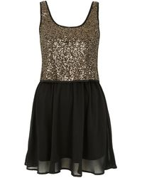 Topshop May Sequin Dress By Goldie gold - Lyst